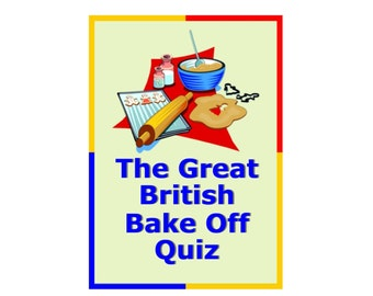 The Great British Bake Off Quiz Pack  GBBO Mary Berry Paul Hollywood Cakes Quiz Questions Picture Quizzes Party Charity