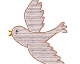 Embroidery design bird applique