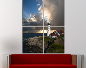 Lighthouse Wall Art Large Canvas Print Decor