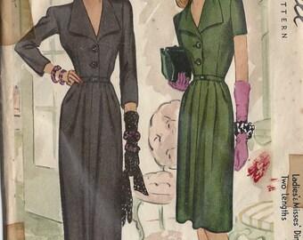"1942 Vintage Sewing Pattern B32"" DRESS (R311) McCall 5047"