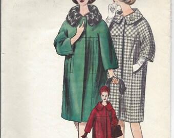 1950s Vintage VOGUE Sewing Pattern B34 COAT (1333) BY Jean Desses Vogue 1066
