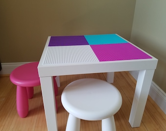 Kids Lego/Brick Building Table with 1 Chair.