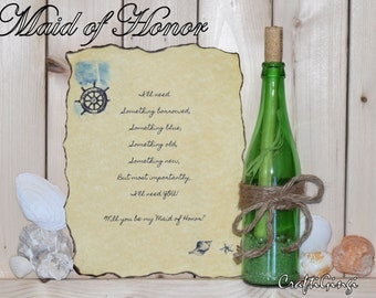 Message in a Bottle ~ Maid/Matron of Honor Proposal ~