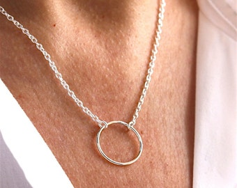 Necklace silver chain sterling silver ring