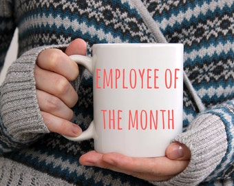 Co worker gift, Employee gift, Employee of the month, Colleague gift, Gift for colleague, Gift for him, Gift for her, mugs for him, mug,