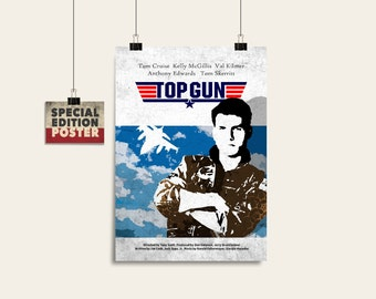 Top Gun, Movie art, Film print, Wall art print, Instant download, Digital download, Wall decor, Alternative poster, Movie poster
