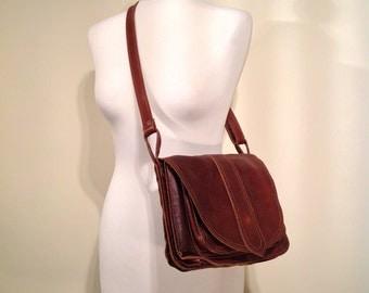 Woman vintage bag brown leather