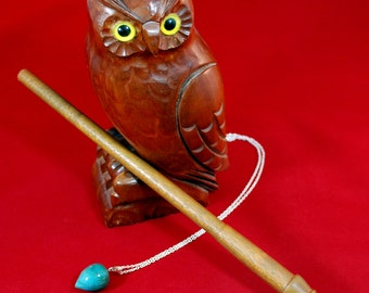"11 1/2"" Wooden Magic Wand, Mahogany Wood, Wizard Wand"