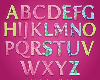 Little Charmer - Alphabet Clipart - 517 png files 300 dpi