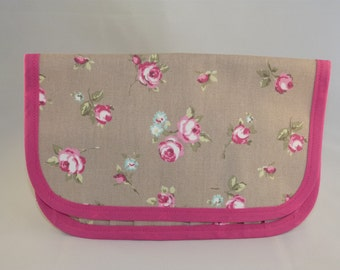 Beige Floral Tool Roll