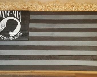 Subdued POW MIA flag