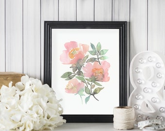 Three roses - A fine art print of my watercolor painting