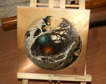 "Original Oil Painting "" ""PUZZLING BALL"""