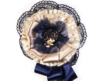 textile brooch,  fabric brooch,  textile brooch, fabric pin, brooch fabric, brooch, vintage brooch, fabric jewelry