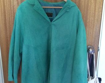 Trendy turquoise seude coat