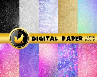 Glitter Digital Paper,Rainbow Glitter Background,Glitter Scrapbook Paper,Glitter Backdrop,digital paper,Glitter Background,scrapbook Glitter