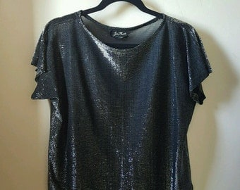 Vintage - Jon Woods - Metallic Sheer Top