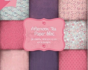36 papers 15 x 15 cm Joy Crafts AFTERNOON TEA