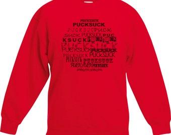 Sweatshirt RED CIRCLE-Pucksuck, raccoon, raccoon