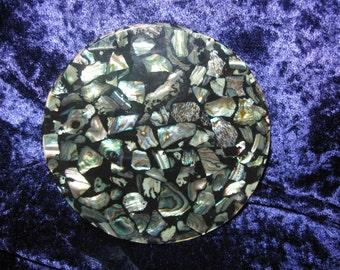 Paua Shell pieces   New Zealand   Coaster
