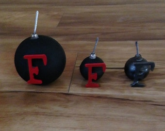 F Bomb Paperweight (Recycled Steel)