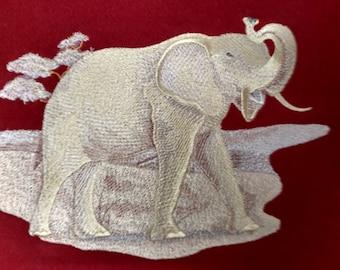 Golden Elephant Embroidered Sweatshirt