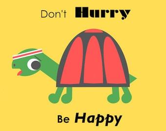 Happy Tortoise A6 Digital Download Postcard
