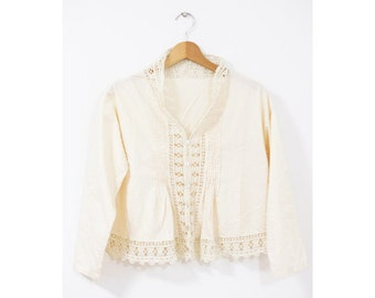 Lace blouse (0007) Cotton lace blouse Blouse Lace tops Cotton lace tops Lace Cotton Boho Folk