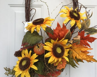 Unique Sunflower Wreath