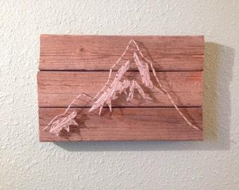 Mountain String Art | Wood Art | Nail Art