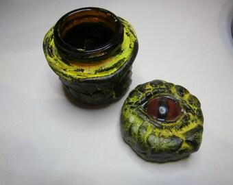 Yellow Dragon Eye Jar