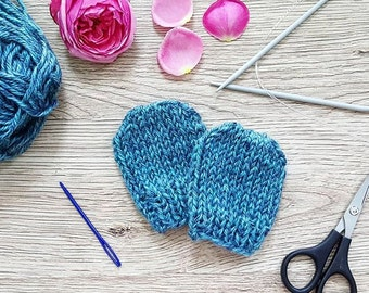 Handknitted Baby Mittens (Very Soft)
