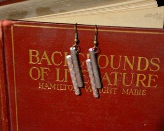 Pillar Paper Earrings