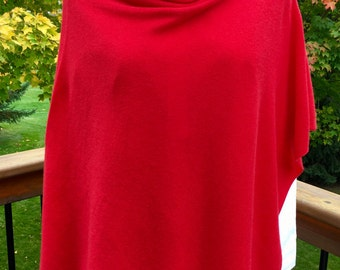 Cashmere Poncho-Red