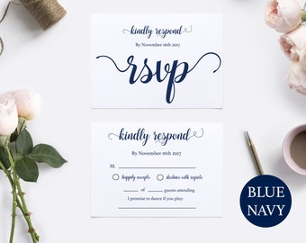 Printable rsvp card | Etsy