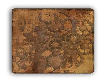 Gears Steampunk Art Print Mouse Pad