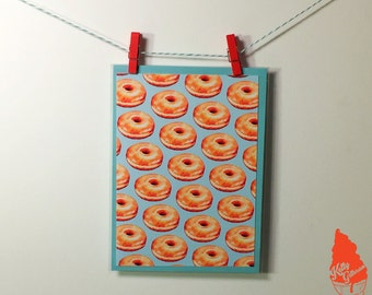 Glazed Donut Pattern Greeting Card