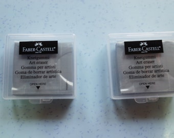 Faber Castell 2 pcs Rubber Art Eraser Kneaded Putty Charcoal Pencil  Pastel