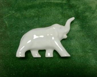 Small Ceramic White Elephant