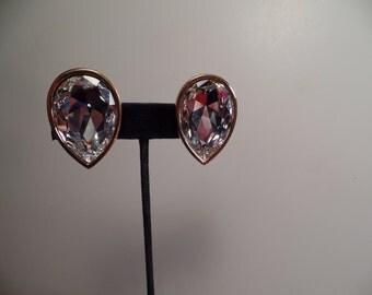 REDUCED  Swarovski Earrings with Huge Rhinestones-WOW!