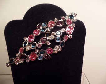 Large and Colorful Brooch-Swarovski