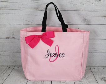 3 Personalized Tote Bag Bridesmaid Gifts (Set of 3) Monogrammed Tote, Bridesmaid Tote, Personalized Tote