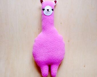 Alpaca Plush Toy, SMALL Alpaca toy, Alpaca soft toy, llama toy, Alpaca cushion, Alpaca pillow, huggable Alpaca, MINI Alpaca Friend - PINK