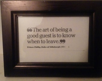 Quote for guests framed wordart