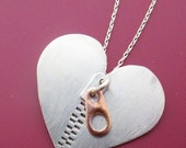 Zipper Club CHD Heart Necklace