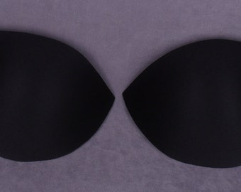 Black Molded Bra Cups - Large Cup Sizes - 1 Pair (FCP85BB-1)