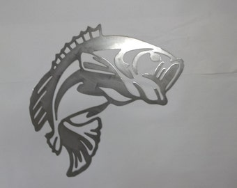 Three Fish DXF SVG WMF files for plasma cutting water jet laser cnc fishing bass 3 different sizes