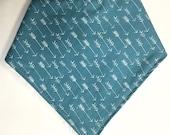 Boy's Bandana Baby Bib in Blue Arrow Fabric - Baby ...