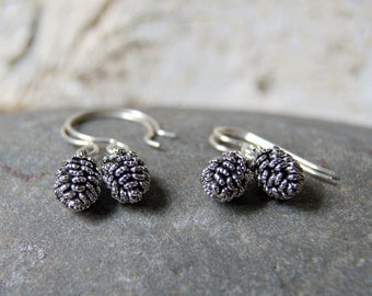 Silver Pine Cone Earrings - FREE GIFT WRAP