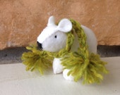 White bear cub SINGLE with green scarf